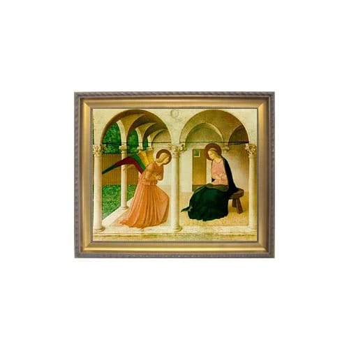 The Annunciation by Fra Angelico, Gold Frame