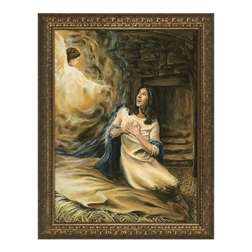 the annunciation w gold frame 9x12 the catholic company. Black Bedroom Furniture Sets. Home Design Ideas