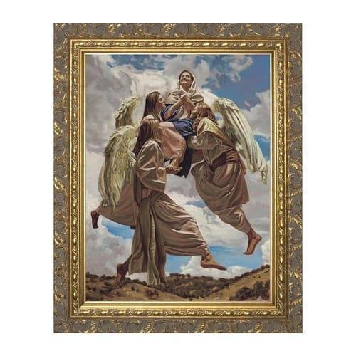 assumption into heaven w ornate gold frame the catholic company. Black Bedroom Furniture Sets. Home Design Ideas