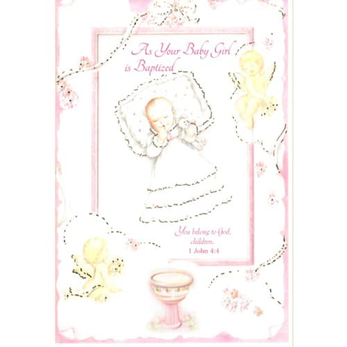 Baptism Greeting Card - Girl