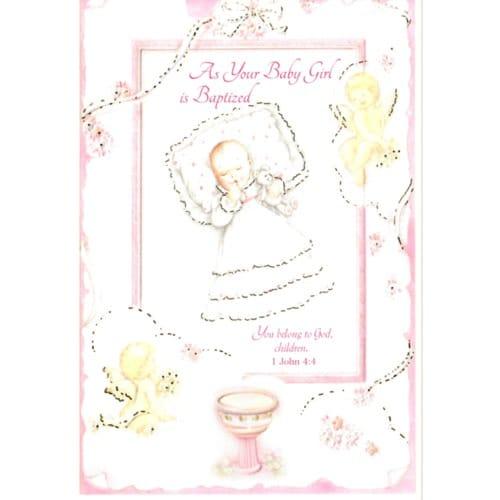 Baptism greeting card girl the catholic company baptism greeting card girl m4hsunfo