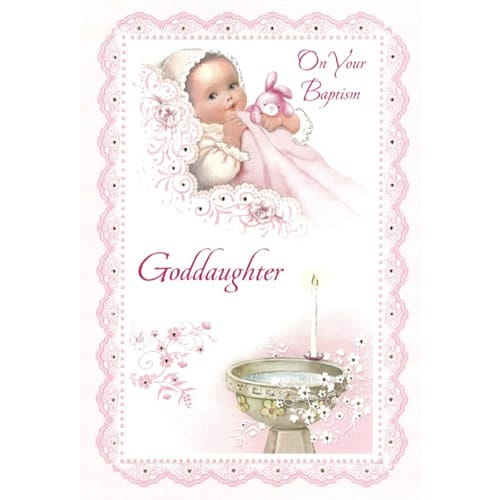 Baptism Greeting Card - Goddaughter