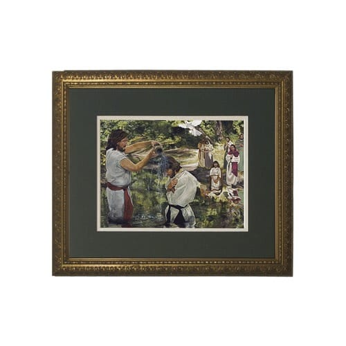 Baptism of Jesus (Matted w/ Gold Frame)