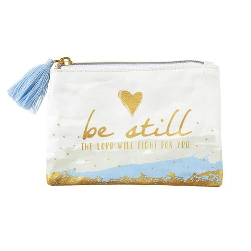 Be Still Rosary Keepsake Pouch