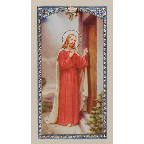 Behold a Knock at the Door - Jesus - Prayer Card