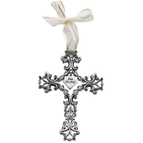 Bless This Child Filigree Cross - 5 inch