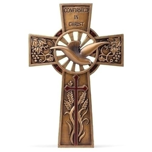 Bronze Finish Confirmation Wall Cross