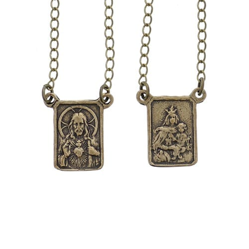 necklaces necklace en scapular sterling silver