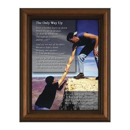 Brotherhood Poem w/ Cherry Frame (6x8)