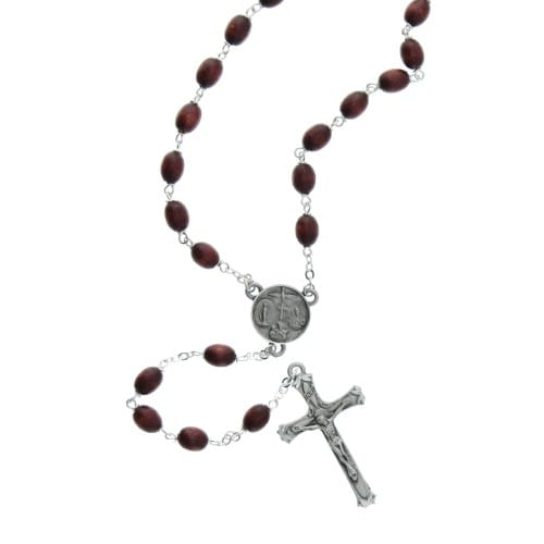 Wood Cord Rosary | Brown Rosary | Discount Catholic Products  |Brown Rosaries