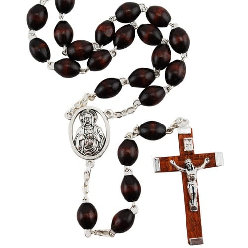 Brown Wood Rosary