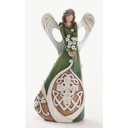 Celtic Cross Angel Figure