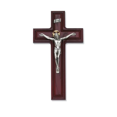 Cherry Stained Crucifix 10