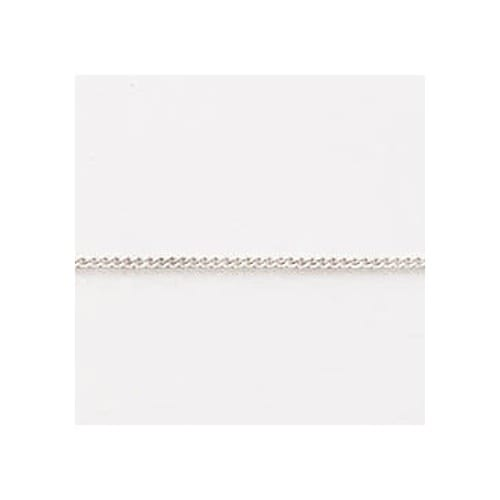 Children's 14 Inch Curb Sterling Silver Chain