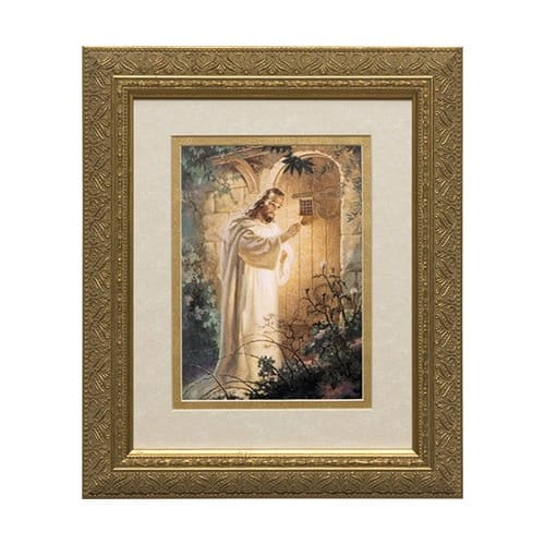Christ at Heart's Door (Matted w/ Gold Frame)