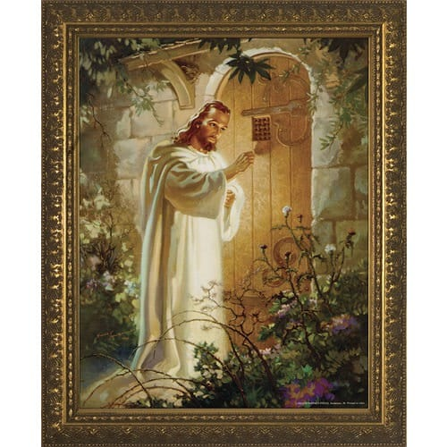 Christ At Heartu0027s Door W/ Gold Frame