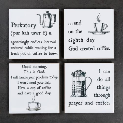 Christ and Coffee Coasters - Set of 4