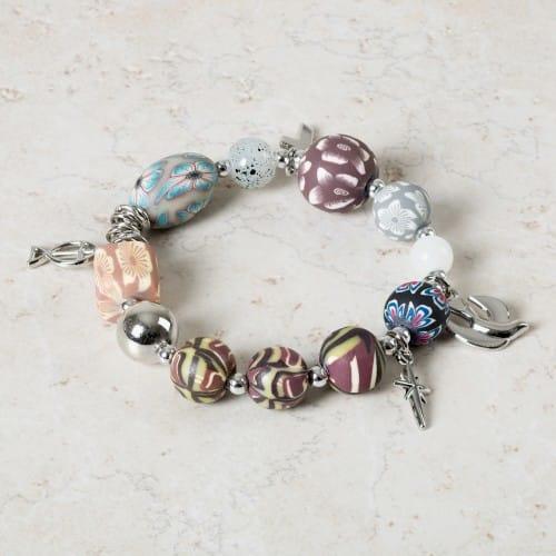 Christian Charm Bracelets: Christ Story Bracelet, Clay Beads