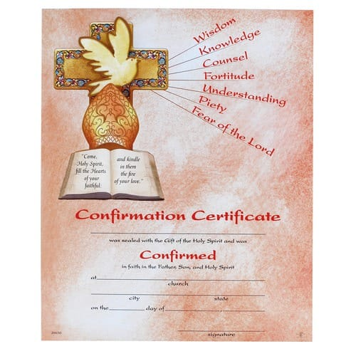Confirmation Certificate | The Catholic Company