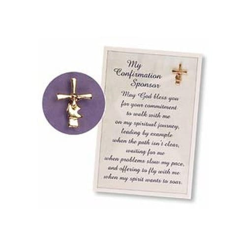 Christmas Greetings To My Sponsor.Confirmation Sponsor Pin And Card