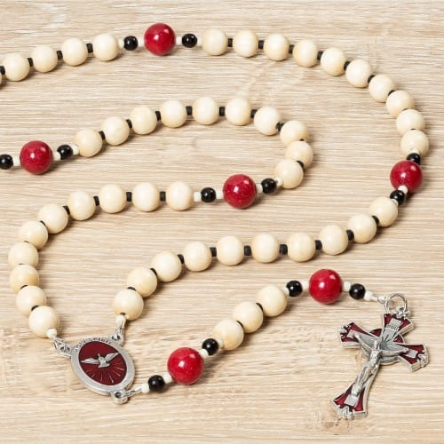 Confirmation Wood Rosary & Prayer Card