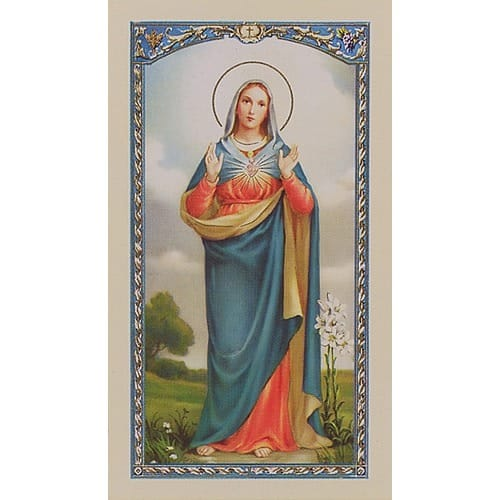 Consecration of Mary - Prayer Card