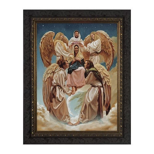 The Coronation of Mary w/ Dark Ornate Frame