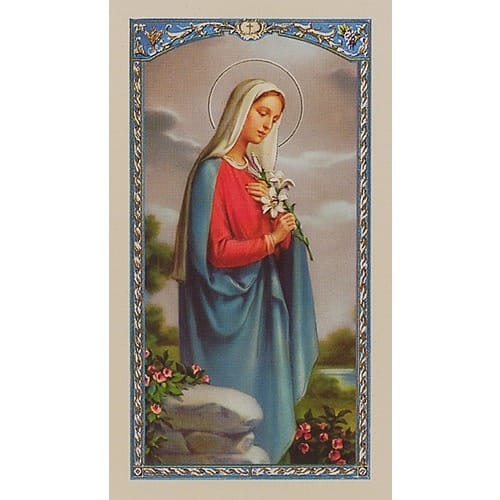 Courtship Prayer - Mary - Prayer Card
