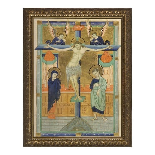 Crucifixion Icon Gold Frame