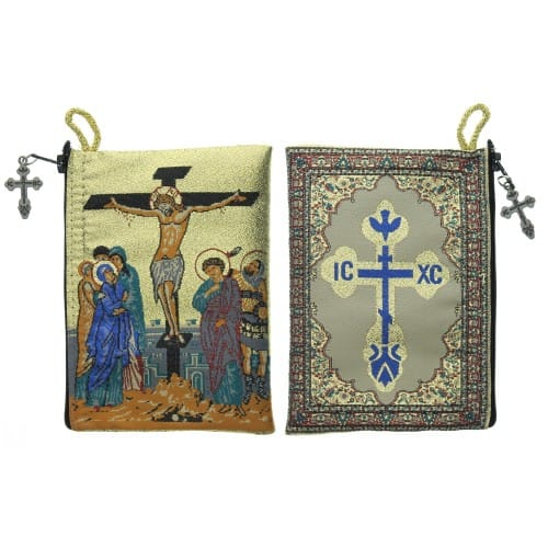 Crucifixion Rosary Icon Pouch