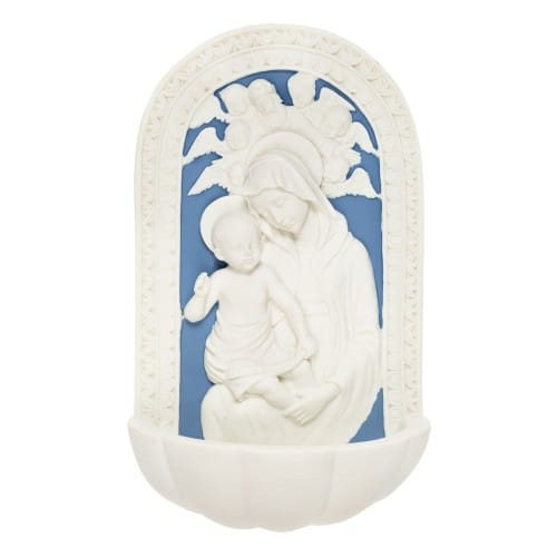 Della Robbia Madonna & Child Holy Water Font