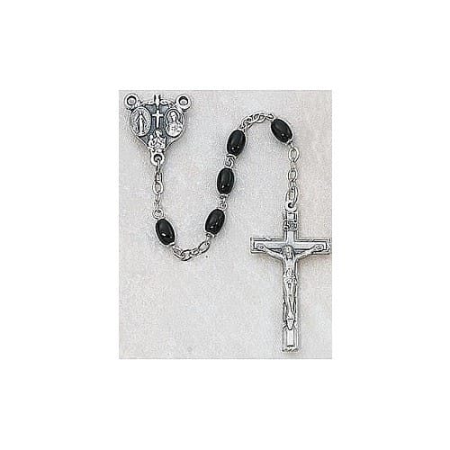 Deluxe Black Glass Rosary