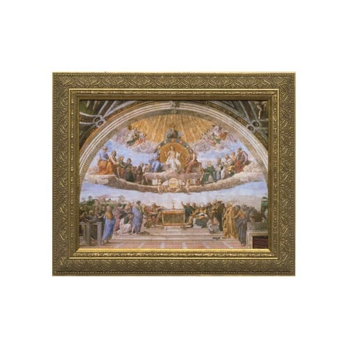 Disputation of the Holy Eucharist w/ Gold Frame