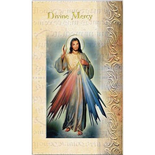 Divine Mercy Chaplet Folded Prayer Card The Catholic