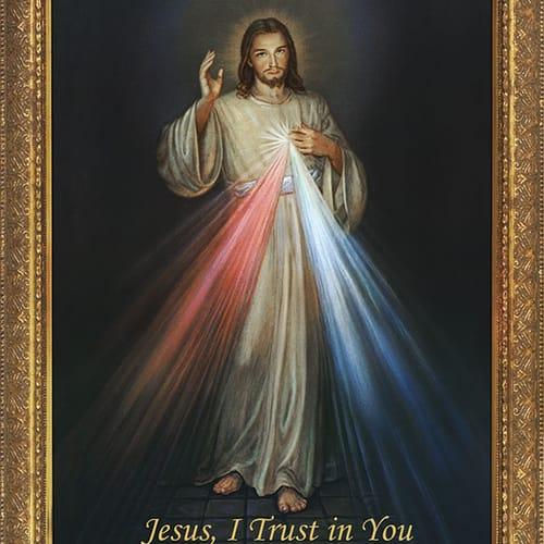 Divine Mercy W Gold Frame The Catholic Company