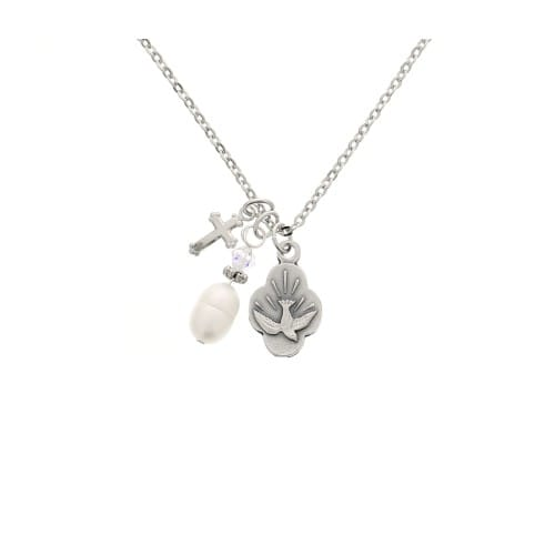 Dove & Pearl Confirmation Necklace