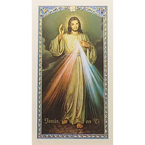 La Coronilla de la Divina Misericordia  (The Divine Mercy Chaplet) – Spanish Prayer Card