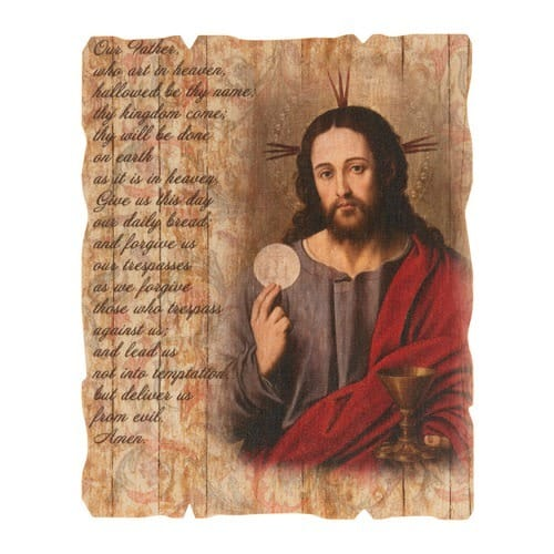 Eucharistic Our Father Wood Plaque