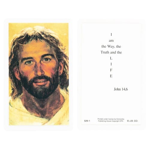 Face of Jesus Laminated Prayer Cards - Set of 12   The ...