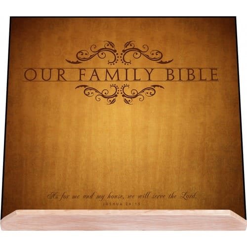 Our Family Wood Bible Stand, 10