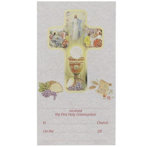 First Communion Card Certificate