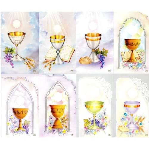 First Communion Chalice Personalized Prayer Cards (Priced Per Card)