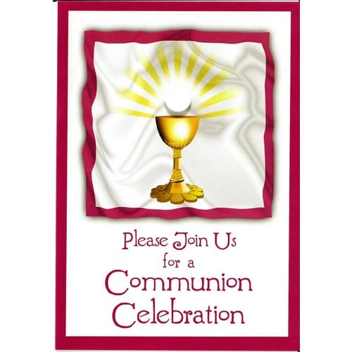 First Communion Invitations Pack Of 8 The Catholic Company