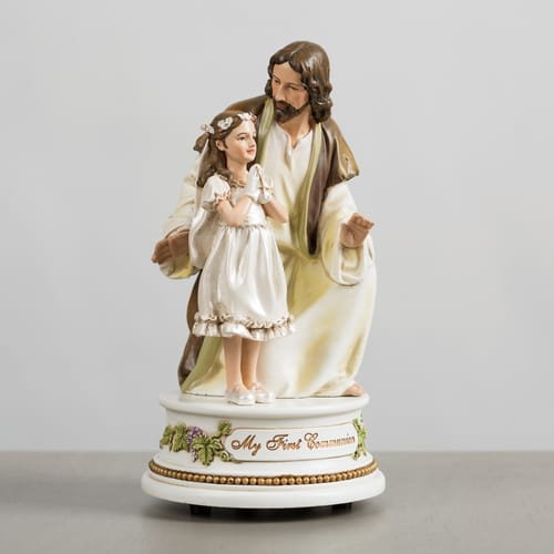 First Communion - Jesus with Girl Musical Figure