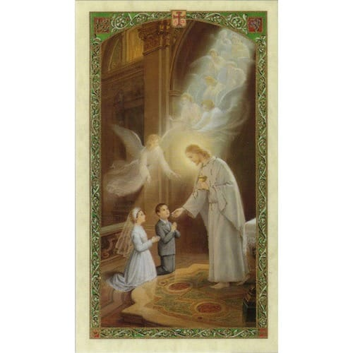 First Communion Laminated Prayer Card