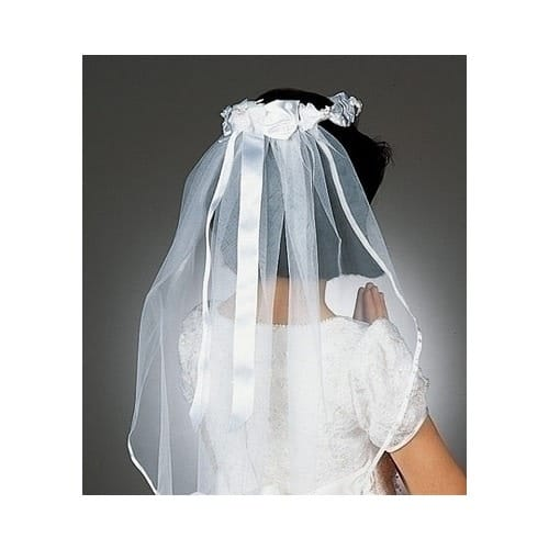 First Communion Veil - White Ribbon