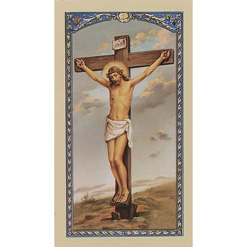 The Five Wounds - Crucificed Christ - Prayer Card