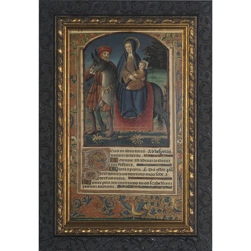 Flight into Egypt w/ Dark Ornate Frame