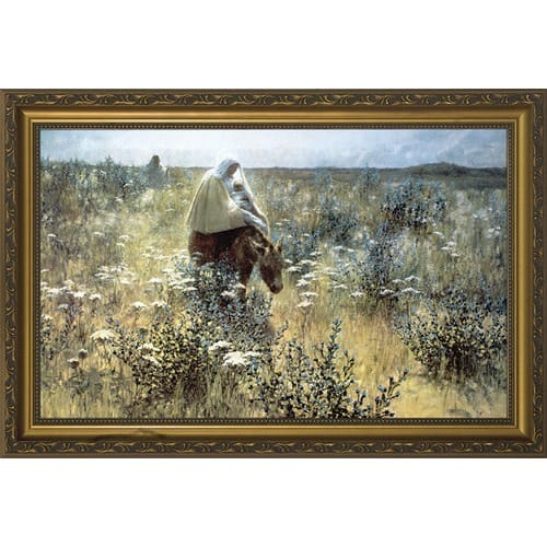 Flight into Egypt w/ Gold Frame