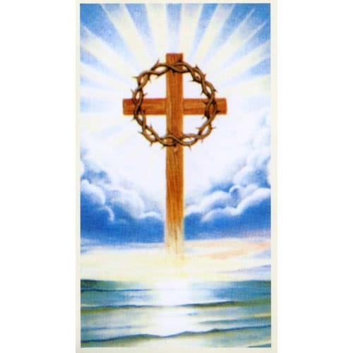 Floating Cross Personalized Prayer Card (Priced Per Card)